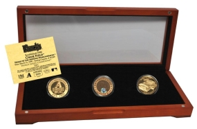 ARIZONA DIAMONDBACKS 24kt Gold and Infield Dirt 3 Coin Set