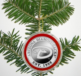 Arizona Diamondbacks Silver Coin Ornament