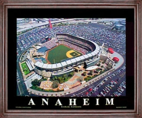 Aerial view print of Anaheim Angels Edison Field