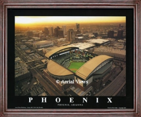 Aerial view print of Arizona Diamondbacks Bank One Ballpark