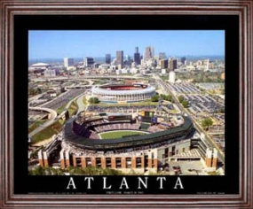 Aerial view print of Atlanta Braves Turner Field