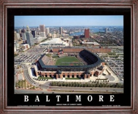 Aerial view print of Baltimore Orioles Oriole Park at Camden Yards