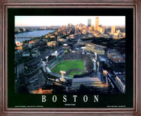 Aerial view print of Boston Red Sox Fenway Park
