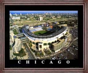 Aerial view print of Chicago White Sox US Cellular Field