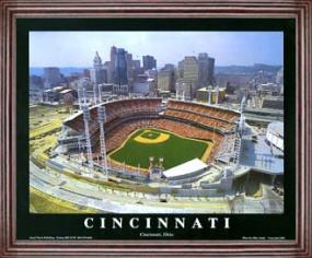 Aerial view print of Cincinnati Reds Great American Ballpark
