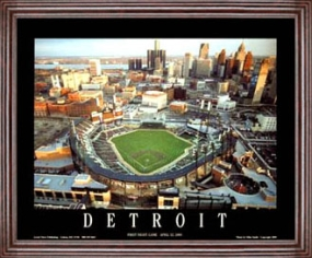 Aerial view print of Detroit Tigers new Comerica Park