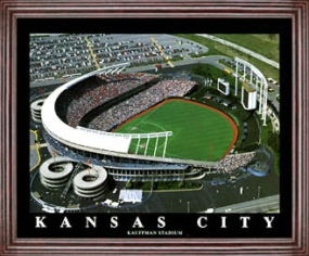 Aerial view print of Kansas City Royals Kauffman Stadium