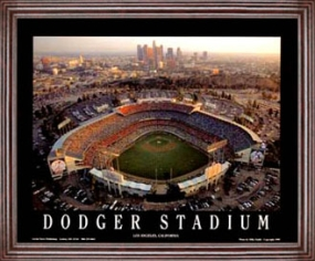 Aerial view print of Los Angeles Dodgers Dodger Stadium