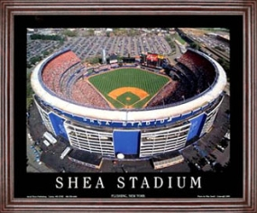 Aerial view print of New York Mets Shea Stadium