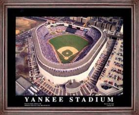 Aerial view print of New York Yankees Yankee Stadium