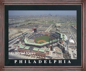 Aerial view print of Philadelphia Phillies new Citizens Bank Park