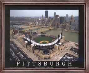 Aerial view print of Pittsburgh Pirates PNC Park