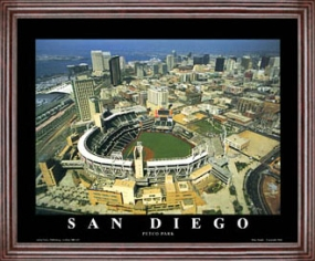 Aerial view print of San Diego Padres new Petco Park