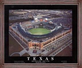 Aerial view print of Texas Rangers The Ballpark at Arlington