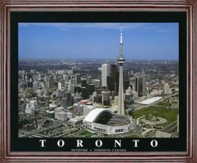 Aerial view print of Toronto Blue Jays Toronto Skydome