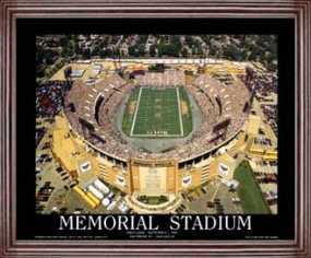 Aerial view print of Baltimore Ravens Memorial Stadium