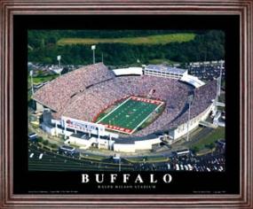 Aerial view print of Buffalo Bills Ralph Wilson Stadium