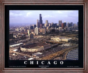 Aerial view print of Chicago Bears old Soldier Field