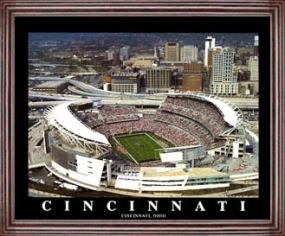 Aerial view print of Cincinnati Bengals Paul Brown Stadium