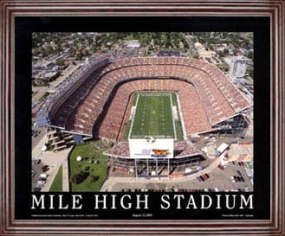 Aerial view print of Denver Broncos Mile High Stadium