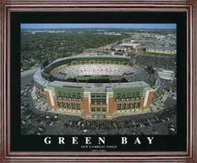 Aerial view print of Green Bay Packers new Lambeau Field