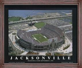 Aerial view print of Jacksonville Jaguars Alltell Stadium