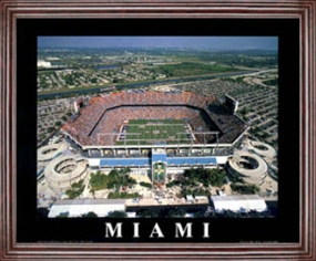 Aerial view print of Miami Dolphins Pro Player Stadium