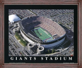 Aerial view print of New York Giants Giants Stadium at the Meadowlands