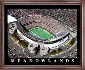 Aerial view print of New York Jets Giants Stadium at the Meadowlands