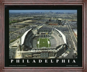 Aerial view print of Philadelphia Eagles new Lincoln Financial Field
