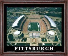 Aerial view print of Pittsburgh Steelers Heinz Field