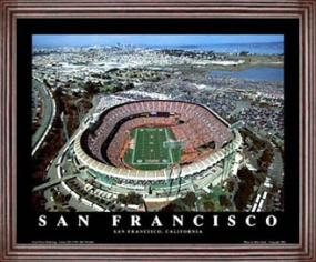 Aerial view print of San Francisco 49ers 3Com Park