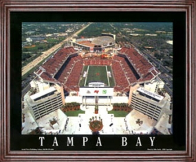Aerial view print of Tampa Bay Buccaneers Raymond James Stadium