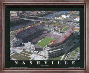 Aerial view print of Tennessee Titans Adelphia Colliseum