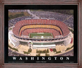 Aerial view print of Washington Redskins new FedEx Field