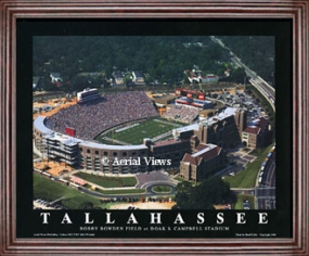 Aerial view print of Florida State Doak S. Campbell Stadium