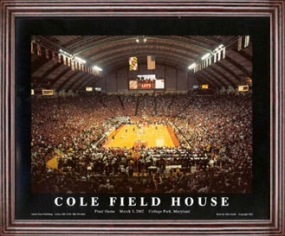 Print of Maryland Terrapins Cole Field House
