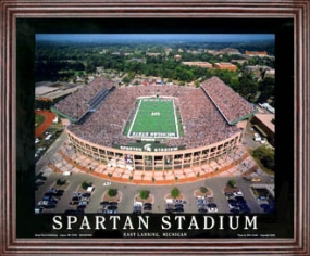 Aerial view print of Michigan State Spartans Spartan Stadium