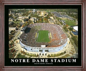 Aerial view print of Notre Dame Stadium