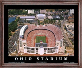 Aerial view print of Ohio State Buckeyes Ohio Stadium