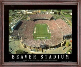 Aerial view print of Penn State Nittany Lions Beaver Stadium