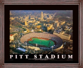 Aerial view print of Pittsburgh Panthers Pitt Stadium