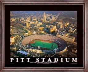 Aerial view print of Pittsburgh Panthers Pitt Stadium
