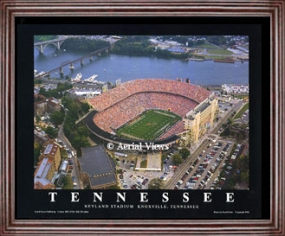 Aerial view print of Tennessee Volunteers Neyland Stadium
