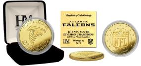 Atlanta Falcons '10 NFC South Division Champions 24KT Gold Coin