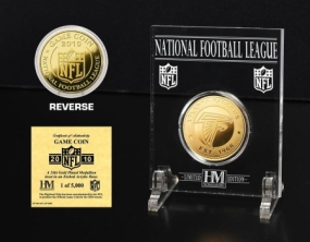 Atlanta Falcons 24KT Gold Game Coin