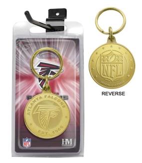 Atlanta Falcons Bronze Bullion Keychain