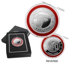 Atlanta Falcons Silver Coin Ornament