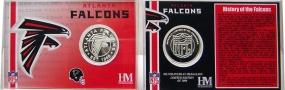 Atlanta Falcons NFL Team History Coin Card