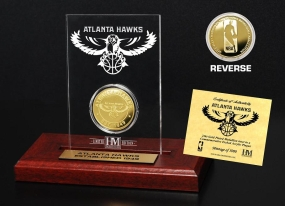 Atlanta Hawks 24KT Gold Coin Etched Acrylic